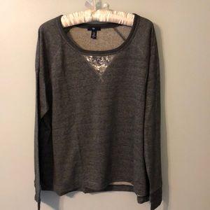 GAP sequin long sleeve sweatshirt